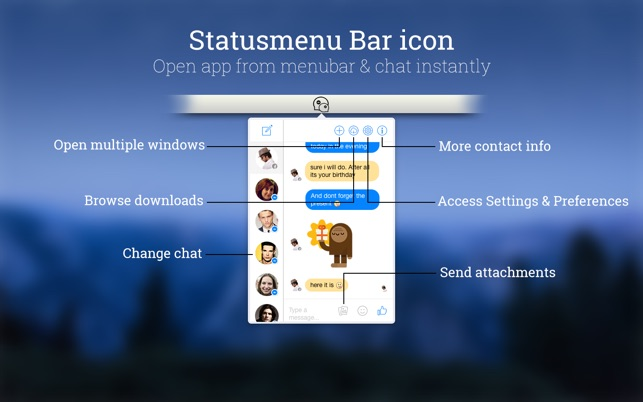 Snappy Messenger for Facebook on the MacAppStore