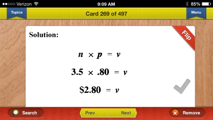 TEAS 6 Prep Math Flashcards Exambusters screenshot-2