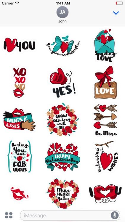Happy Valentine's Day Sticker Pack