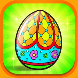Painting Easter Eggs Coloring Book For Children HD