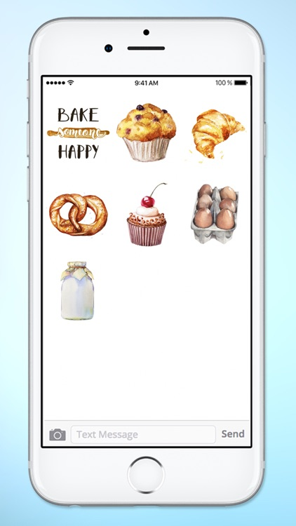 Watercolor Baking Cooking and Kitchen Sticker Pack screenshot-4