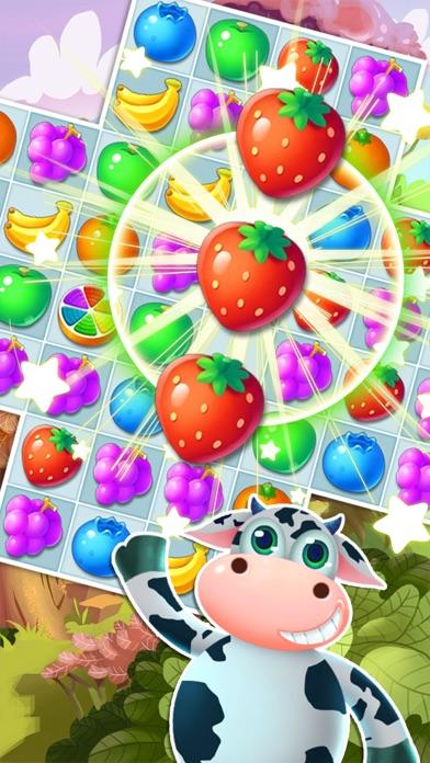 Fruit Yummy Pop - Garden Drop Match 3 Puzzle screenshot 1