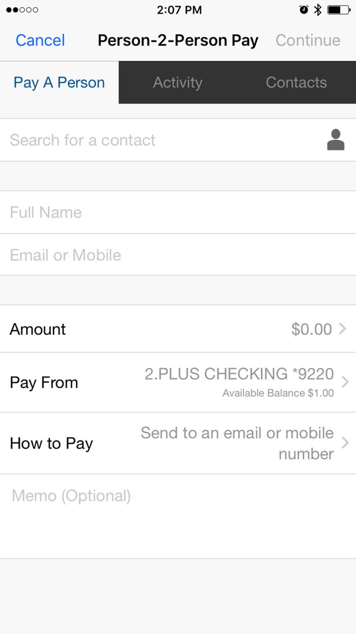 People's United Bank Mobile Screenshot