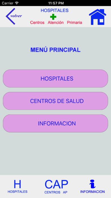 HOSPITALES Y CENTROS DE AP screenshot 2