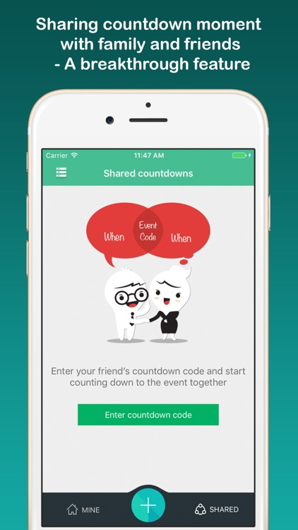 Countdown sticker - Fancy countdown widget & timer