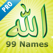 99 Names of Allah (Pro) - الله :  with Audio Islam