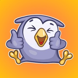 Little Funny Owlet Stickers