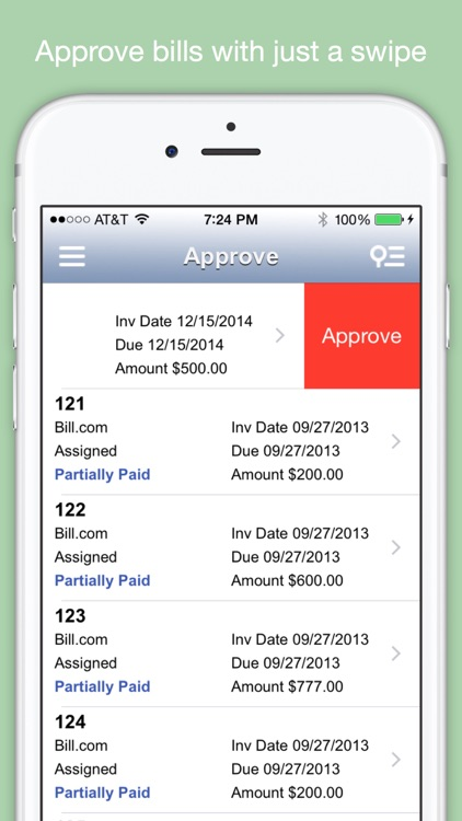 Mobill - mobile app for Bill.com screenshot-3