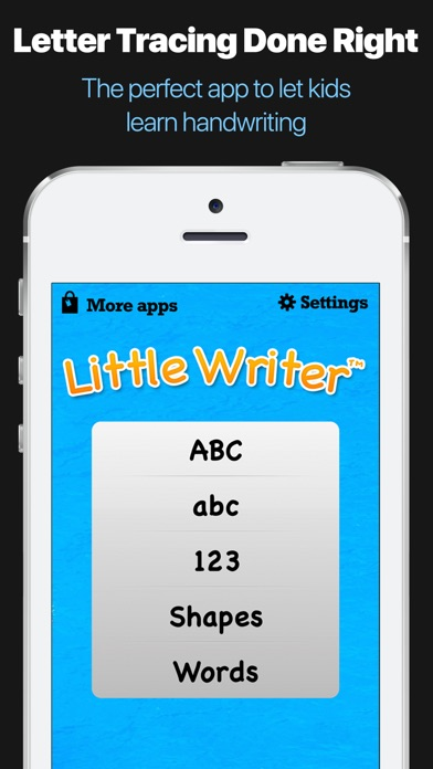 Letter Tracing Apps.Little Writer Tracing App Trace Letters Numbers Apprecs
