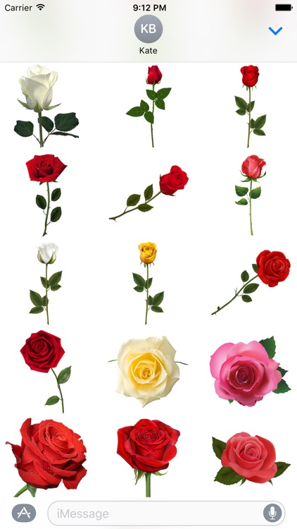 Roses to Love Stickers for iMessage screenshot-4