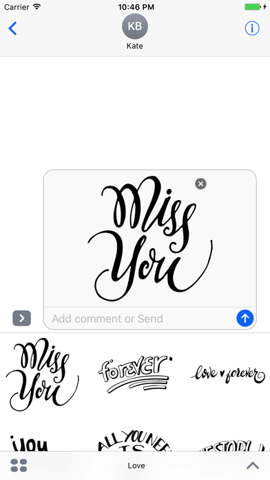 Love Typography Stickers for iMessageScreenshot of 1