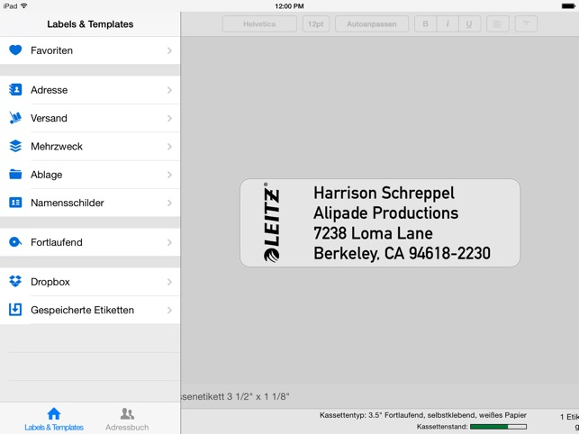 Leitz Icon Software Screenshot