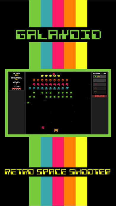 Screenshot from Galaxoid: A Retro Space Shooter