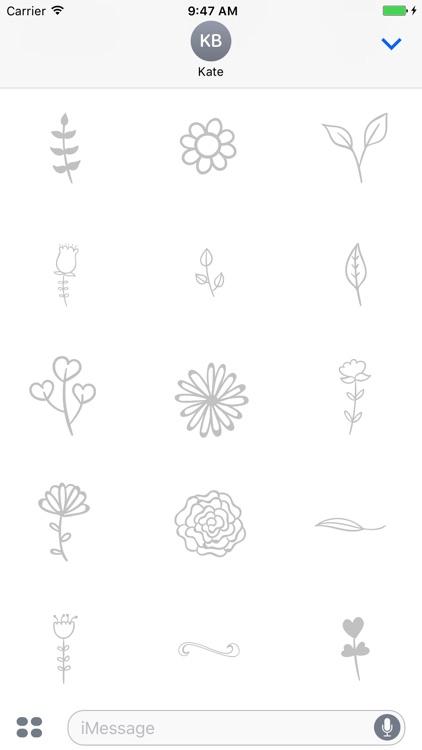Animated Cute Flower Stickers screenshot-3