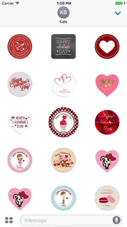 Valentine Day's Stickers Pack For iMessage