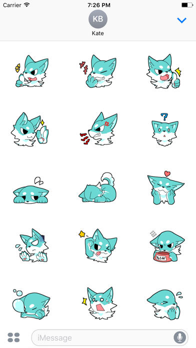 Funny Wolf Animated Sticker screenshot two