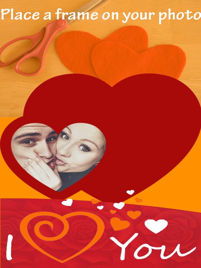 I Love You Photo Frames - Heart Effect Card Editor on the App Store