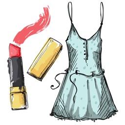 Stylish Girl Beauty and Fashion Sticker Pack 2