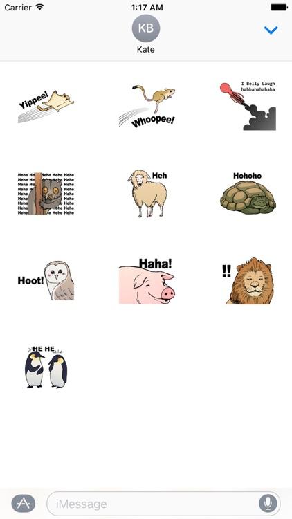 Funny Animals Laugh Emoji