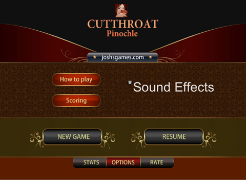 Cutthroat Pinochle Online - náhled