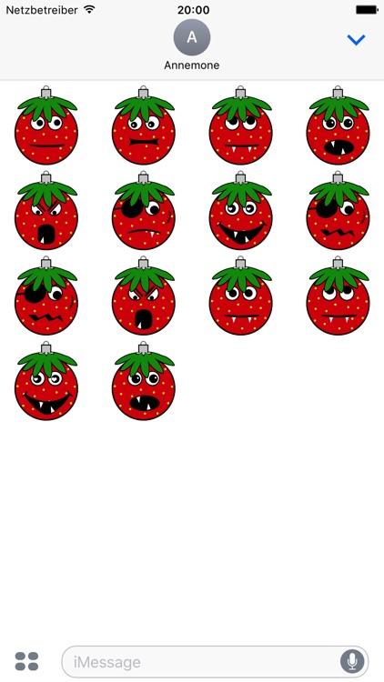 Erdbeermän ist Chris Baumkugel