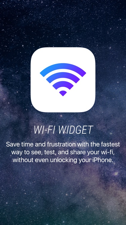 Wifi Widget - See, Test, and Share Wi-Fi screenshot-0