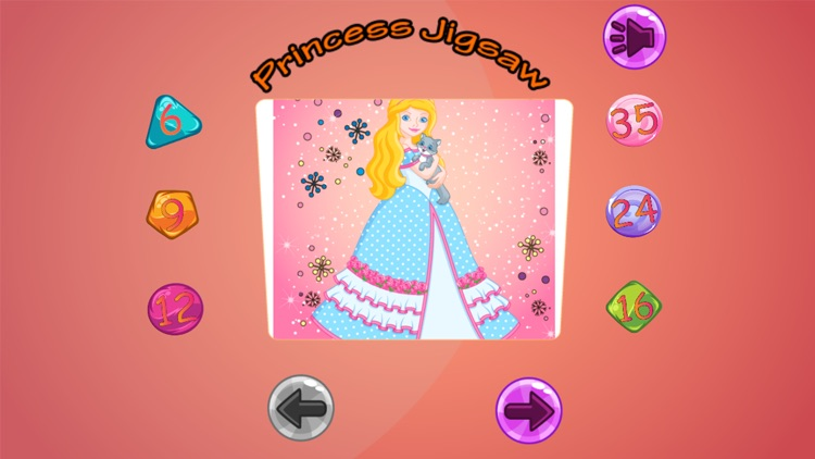 Cute Princess Jigsaw Puzzle for Kids