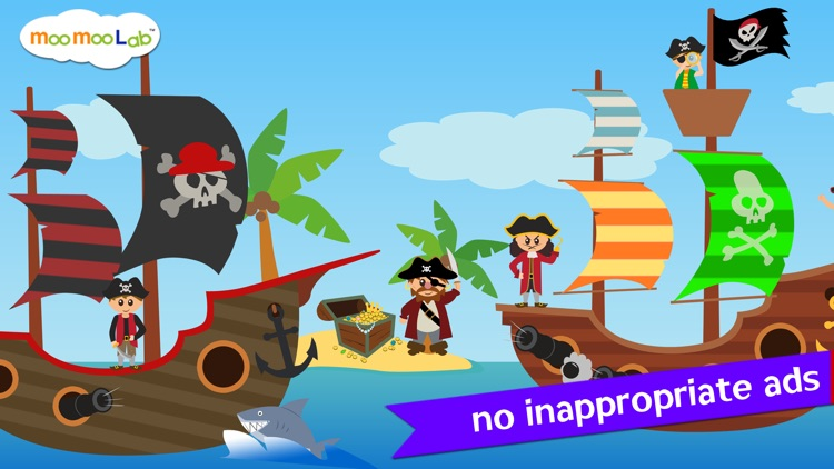 Pirate Games for Kids - Puzzles and Activities by Moo Moo