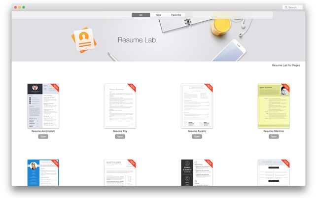 Resume Lab  Pages Templates On The Mac App Store