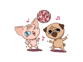 Lily Pug and Loki Sphynx. Stickers by Design73