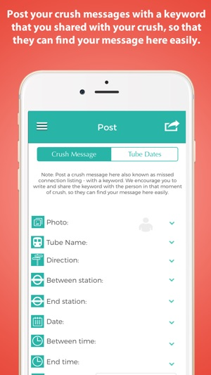 CrushOnTube - Fancied a cutie on London Tube? on the App Store