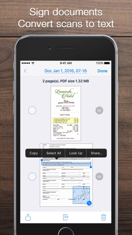 iScanner - PDF Document Scanner App screenshot-3
