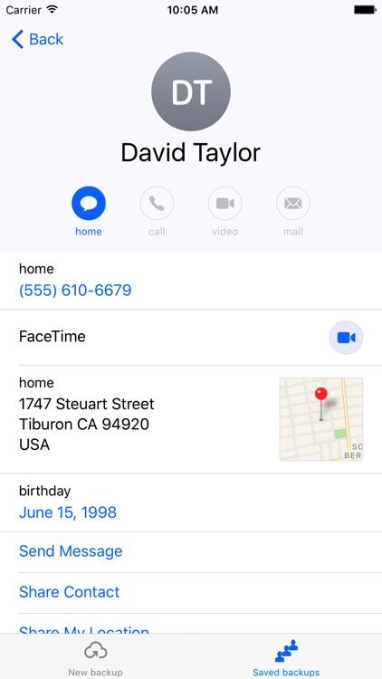 Contacts backup - easily backup & restore contacts screenshot-4