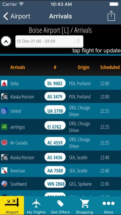 Boise Airport (BOI) + Flight Tracker