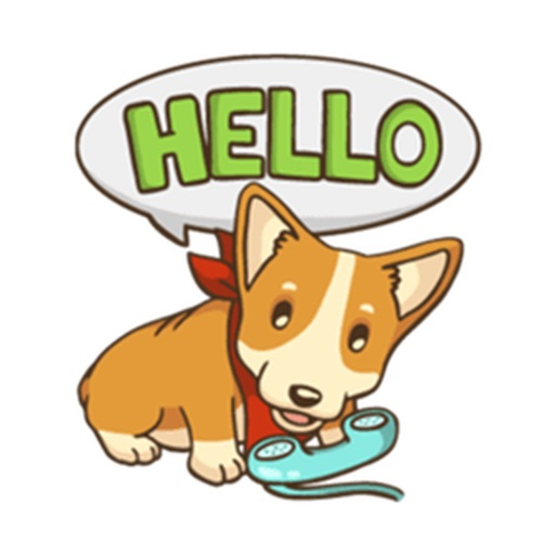 Cute And Lovely Corgi Stickers