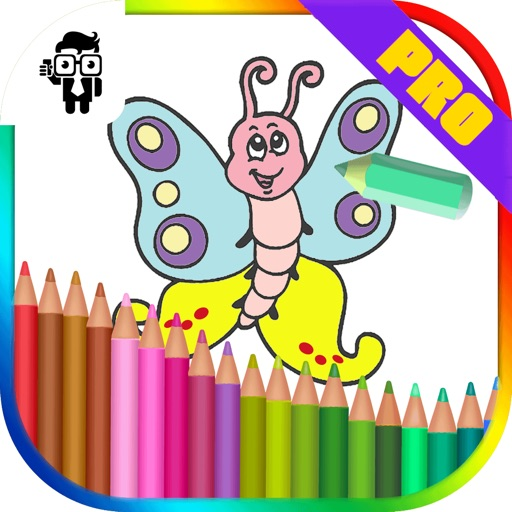 Butterfly Kids Coloring Book Pro