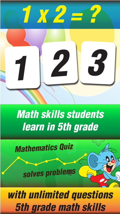 Fifth Grade Mouse Basic Math Games for Kids screenshot two