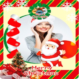 Merry Christmas photo frames - vertical cards