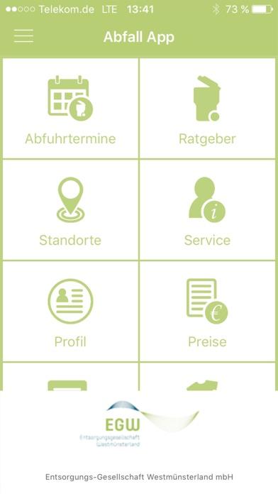 Abfall-App WMLScreenshot von 1