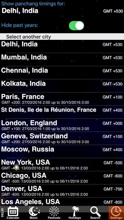 India Panchang Calendar 2011 screenshot-4