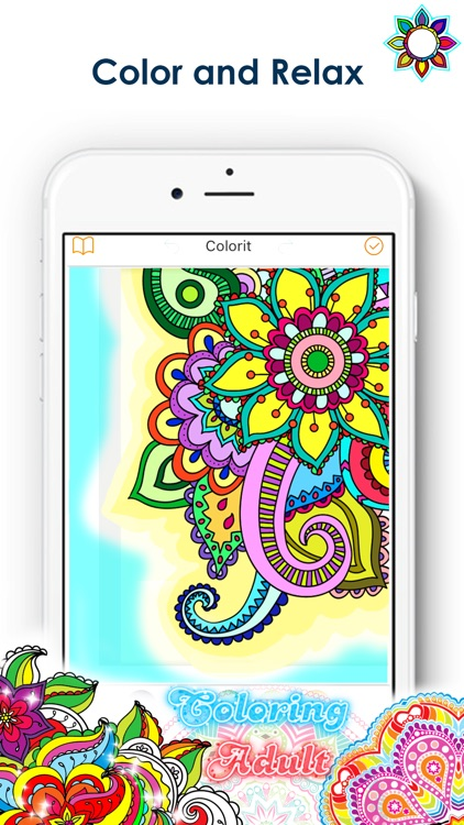 Coloring Pigment Colouring Book For Adults By Phoobal Boonpunya