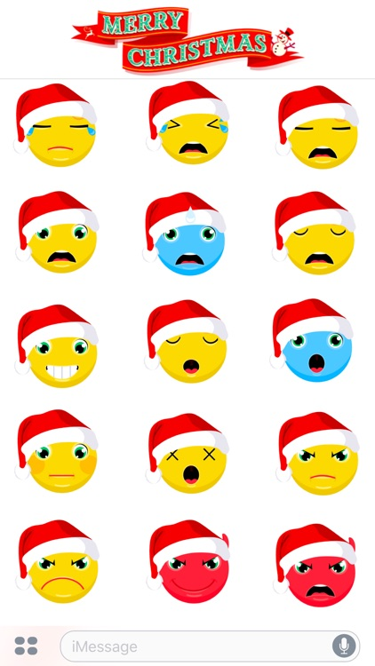 Merry Christmas & Happy New Year 2017 - Cute Emoji screenshot-4
