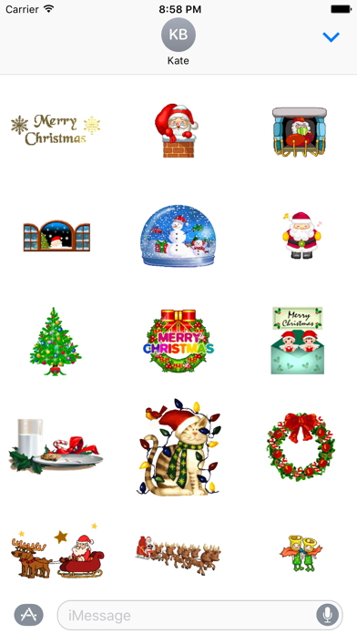 Animated Christmas Stickers for iMessageScreenshot of 2