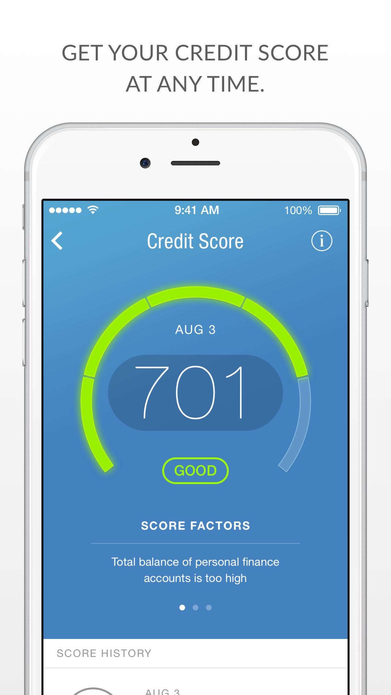 Prosper Daily - Money Tracking, Free Credit Score Screenshot