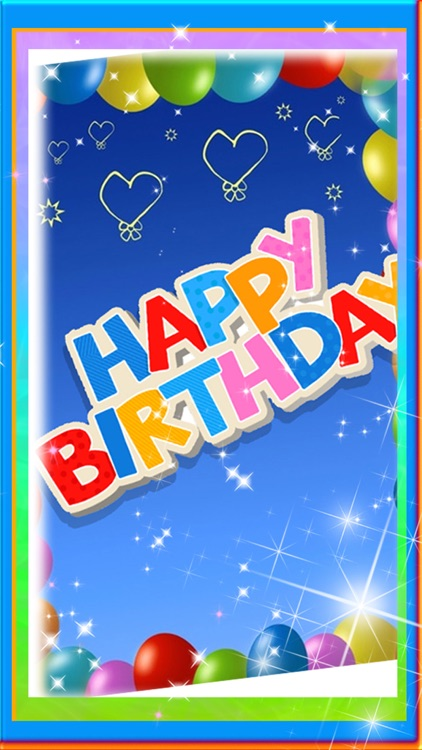 Happy Birthday Greeting Card Maker - Photo Frame
