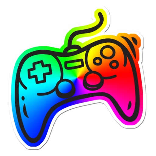 Video Game Gamer Rainbow Sticker Pack