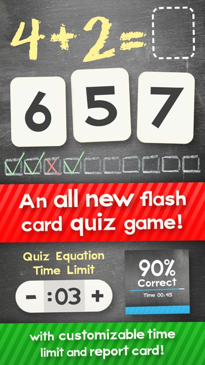Addition Flash Cards Math Help Quiz Learning Games screenshot-0