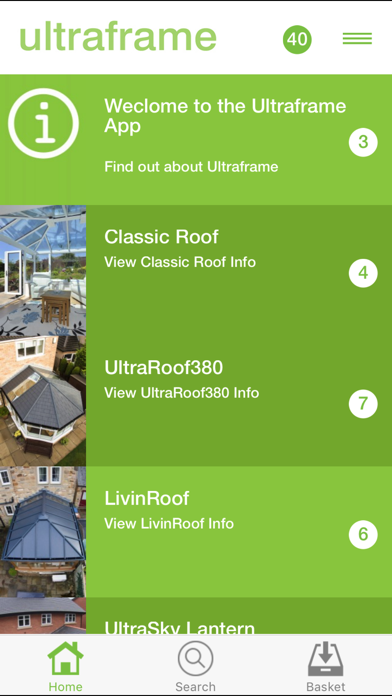 Ultraframe Installer App screenshot one