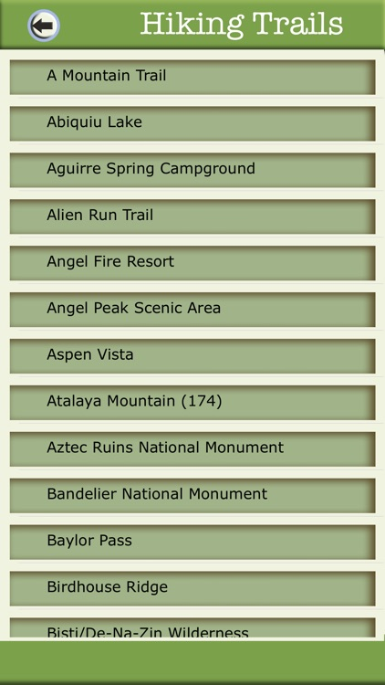 New Mexico Camping & Hiking Trails