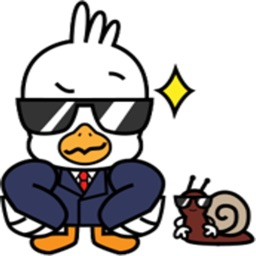Gull And The Snail stickers by Beardownize